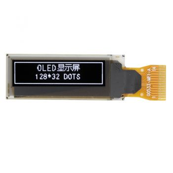 0.91 inch 128x32 Dots White OLED Display