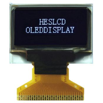 0.96 inch White OLED Display 30 pin