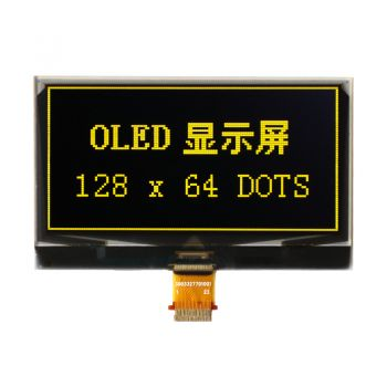 2.40 inch 128x64 Dots Yellow OLED Display